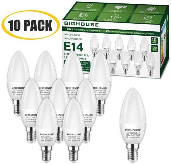 Ampoules LED E14 C37, 4W [Classe énergétique A+]