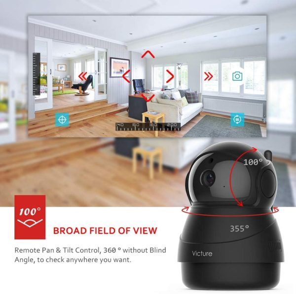 Caméra de Surveillance,1080P Caméra WiFi sans Fil